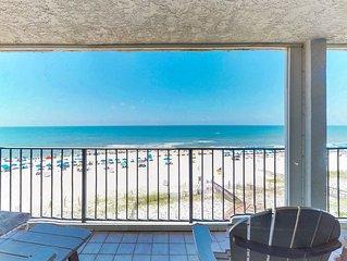 Stunning beachfront condo w/shared pool, balcony w/incredible views