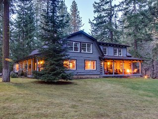Gorgeous riverfront home & guesthouse w/ deck, hot tub, firepits & media room!