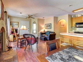 Dog-friendly, waterfront getaway w/ fireplace, full kitchen, & furnished patio