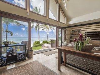 Aloha Beachfront Bliss - New Summer Dates! Luxury on the beach! AC, Hot tub