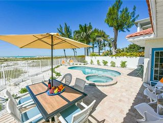 Reduced Rates 25% OFF! Gulf Front Home with Private Heated Pool!