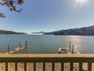 Charming lakefront cabin w/ dock, kayak, canoe, & stunning views