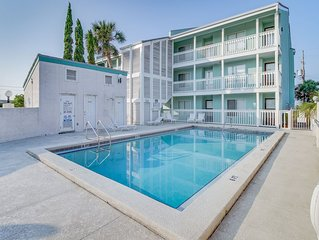 Multi-level seaside condo w/ easy beach access, shared pool, & water views!