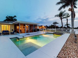 Riverfront house w/ private pool, dock, & lanai - dogs welcome!
