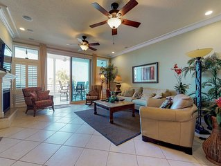 Oceanview getaway with shared pool & private patio - steps from the beach