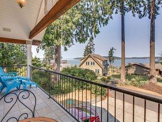 Spacious home with lush garden, nice bay views, peaceful location