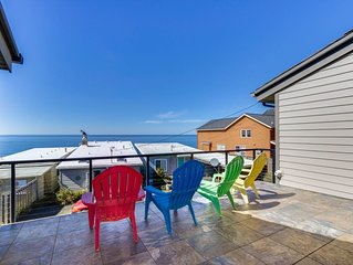 Beachside home with gorgeous ocean views and calming cabin atmosphere!