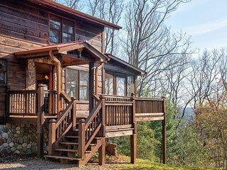 Dog-friendly cabin w/ wraparound deck, outdoor fire, & much more
