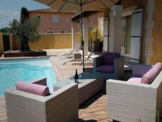 Maison 3 étoiles  tout confort avec piscine privée et chauffée