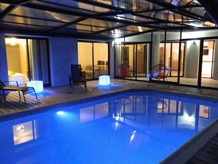 DOËLAN, Villa ***** 12 p,, piscine couverte et chauffée, spa, sauna, billard