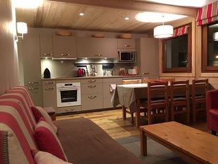 En plein centre de Megève, un appartement calme et très confortable