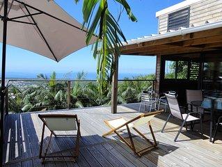 Lounge des hauts 2 vue panoramique entre Océan et montagnes