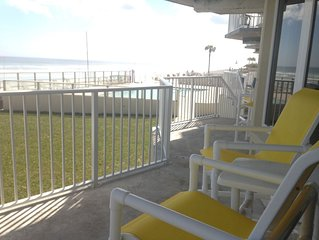 First Floor Direct Ocean Front 3BR/3BA, Sleeps 8, Spacious, CLEAN, Well Stocked