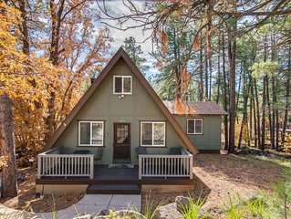 Beautiful A frame cabin with lots of privacy and space to play.