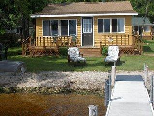 Family friendly two bedroom cabin on beautiful lake Noquebay