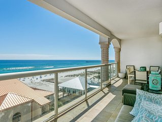 Astounding Gulf Front View with 2 Heated Pools and a Free Beach Chairs!