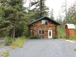 'Jack London's Cabin', a Genuine Alaskan Log Cabin built by owners!
