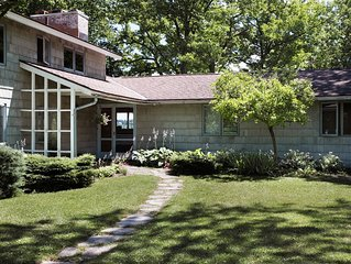 Gracious Mid-Century Modern--Right on Cazenovia Lake, with Expansive Grounds