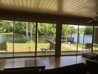 Enjoy peace and tranquility on the Withlacoochee river with breathtaking views.