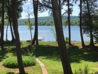 Big Platte Lake - 100' of shoreline with dock and beach! Book 2021 Now!