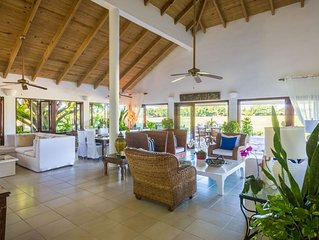 Five bedroom villa with large pool, panoramic south west view.
