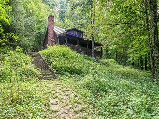 Secluded mountain retreat.  Away form it all, but close to everything.