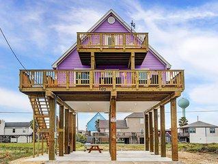2nd Row,Fam Friendly,Ocean Views,Beach Access,Hi-spd Internet, golf cart, EV chg