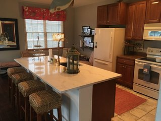 BAYSIDE RESORT:  4 BR End Unit Town Home