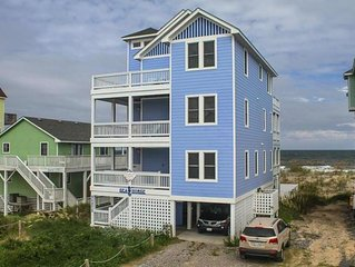 OBX OPEN!!  OCEANFRONT 5 BR Elevator & game room, HOT TUB  Million dollar views!