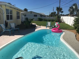 Beach Open!!! Beachside, Pet-Friendly Home with Saltwater Pool!