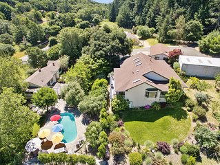 8.5 Acre Estate in the heart of wine country. Pool, Hot tub, Total Privacy