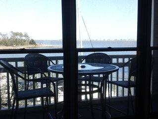 WATERFRONT Condo in Historic District Overlooks Manteo Harbor!