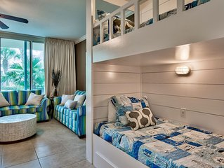 Waterscape 1 bedroom with bunks walkout unit -on the beach-
