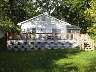 Recently remodeled spacious cottage on beautiful Green Lake in Interlochen