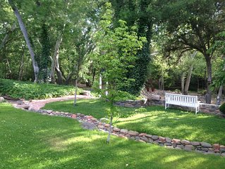 PRIVATE CREEK FRONT - In Heart of Sedona on a 4 Acre Orchard steps to Oak Creek