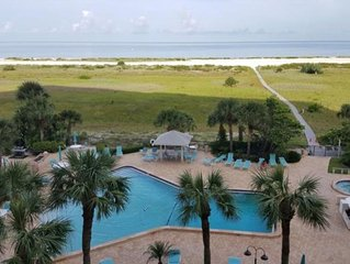 See Beautiful Sunsets Over The Gulf From Your Private Balcony