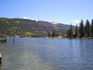 Sit On Your Dock Or In A Furnished Boat And View The Mountains