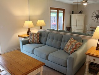 Clean, comfortable, sleeps 7. Walk to the beach! Variable rates, great location.