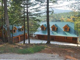 CANE CREEK LODGE ~ Luxurious Log Cabin on Lake Nottely ~ Sleeps 14