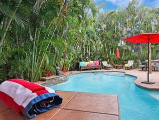 Martini Manor is the ultimate Tropical Oasis with a private Heated Pool!