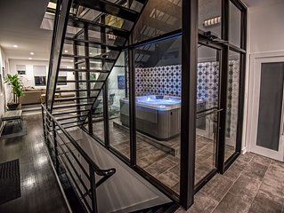 INDOOR HOT TUB IN MASSIVE MODERN LUXURY HOME OFF CANTON SQUARE &GATED PARKING!!