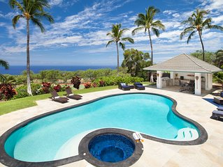 Luxury in Paradise! Ocean View Estate -  Pool, Spa, Tennis Court, Cabana