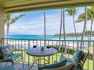 Romantic Oceanfront Studio with Gorgeous Ocean Views Overlooking Napili Bay