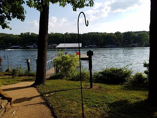 Quiet  location, beautiful lakefront home in a cove. Private covered boat dock!