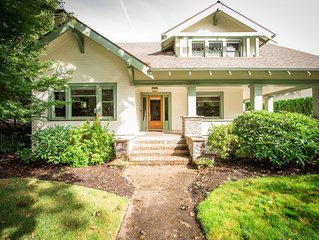 Downtown craftsman on the park, historic appeal with modern amenities