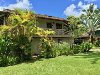 Excellent neighborhood! Two minute walk to Hanalei Beach. Bikes too! TVNC#1321