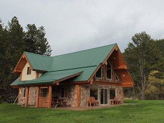 3 Bdrm Log Cabin Nestled in Beautiful Meadow on Spring Creek: Call For Rate Info