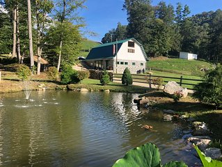 Starry Nights: Petting Zoo! HOT TUB, Romance, 15+ acres, 1000+ ft Trout Stream