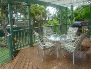Beachside Hawaiian Home.  Just steps to White Sandy Beach.  Please ask for dates