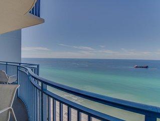 Beachfront Condo with Free WiFi, Balcony, Gulf Views, and Shared Pool, & Hot Tub